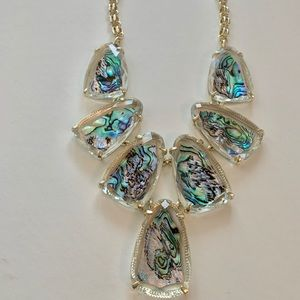 KENDRA SCOTT Harlow Abalone Necklace Gold NWT $225